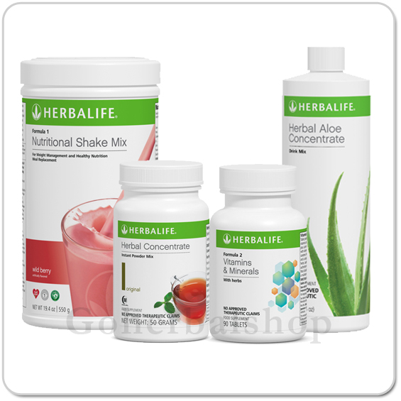 Herbalife Breakfast Pack (Shake, Aloe,Tea & Vitamins)